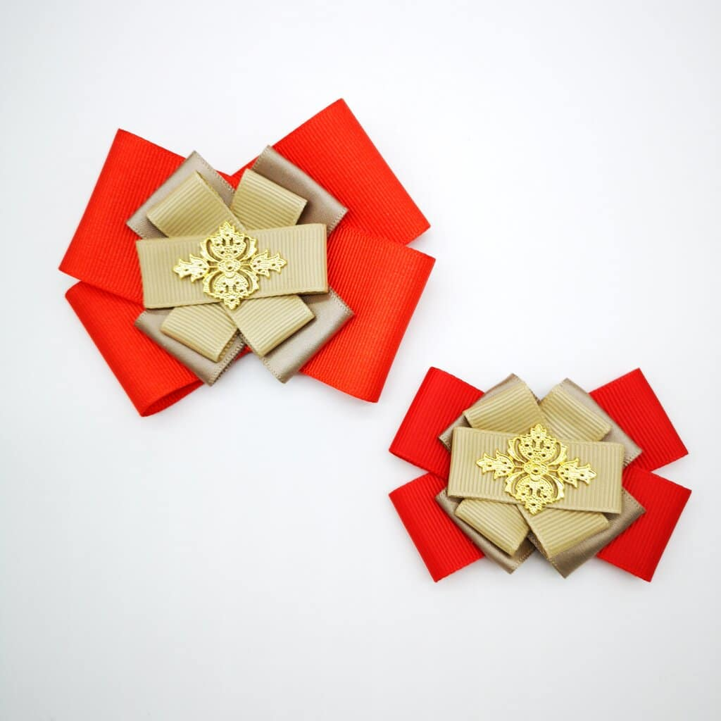 Brosa eleganta, brosa handmade, set mama-fiica